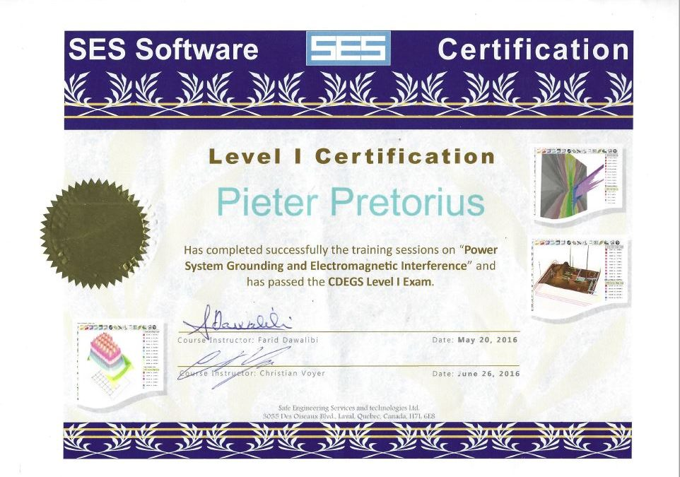 TERRATECH Proudly Announces CDEGS Level I Certification Status
