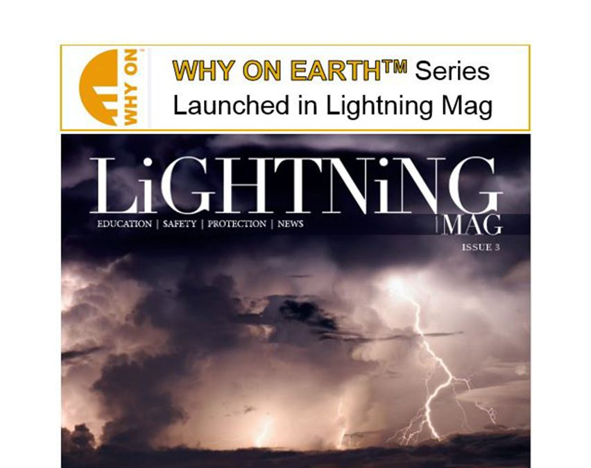 "TERRATECH proud to launch the ""Why on Earth"" series with Lightning Mag."